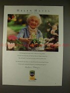 1992 Miracle Gro Ad with Actress Helen Hayes, NICE!!