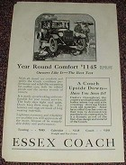 1923 Essex Coach Ad, Year Round Comfort NICE!