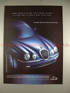 1999 Jaguar S-Type Ad, Need to Wait A Lifetime to Own!!