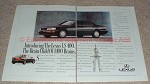 1990 Lexus LS400 2-page Ad, Brain Child of 1400 Brains!