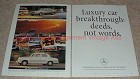 1990 Mercedes 2-page Ad, Luxury Car Breakthrough!