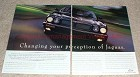 1997 Jaguar 2-page Ad, Changing Your Perception!!