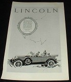 1926 Lincoln Sport Touring Car Ad, NICE!!!