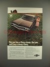 1969 Chevrolet Impala Sport Coupe Car Ad - Buy Cheap