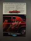 1977 Chevrolet Coupe Car Ad - -Long Legged!