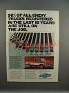 1977 Chevrolet Chevy Fleetside Pickup Truck Ad - On Job