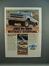 1981 Chevrolet Fleetside, Blazer, Suburban, LUV Ad!