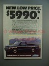 1984 Chevrolet S-10 Pickup Truck Ad - Low Price