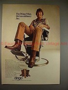 1971 Dingo Boots Ad w/ Joe Namath in Chair, NICE!!