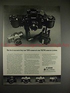 1971 Canon F-1 and TL Camera Ad, Best Reason to Buy!!