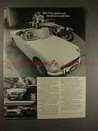 1972 MG MGB Car Ad, The Sports Car America Loved First!