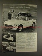 1972 MG MGB Car Ad, America Loved First!!
