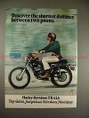 1972 Harley Davidson TX-125 Motorcycle Ad, Discover!!