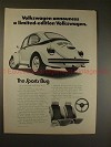 1973 VW Volkswagen Beetle Sports Bug Ad, NICE!!