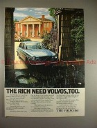 1973 Volvo 164 Car Ad, The Rich Need Volvos Too, NICE!!