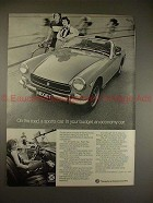 1973 MG Midget Car Ad, On the Road, A Sports Car NICE!