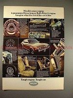 1975 Mazda RX-4 RX4 Car Ad, Guaranteed As Long as Rolls