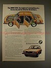 1976 BMW 530i Car Ad, Engineer's Conception of Luxury!