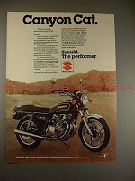 1979 Suzuki GS-550E Motorcycle Ad - Canyon Cat, NICE!!