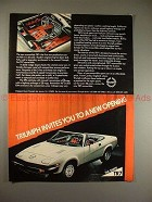 1979 Triumph TR7 TR-7 Convertible Ad, A New Opening!!