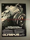 1979 Olympus OM-10 Camera Ad, So Little Money - NICE!