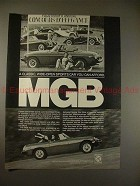 1979 MG MGB Car Ad - A Classic, Wide Open Sports Car!!
