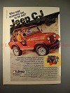1980 Jeep CJ Ad - Who Says Economy Has to be Dull?!?!