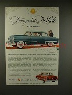 1953 De Soto Firedome Car Ad - Distinguished