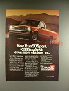 1985 Dodge Ram 50 Sport Truck Ad - More Turn-on