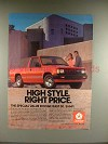 1987 Dodge Ram 50 Truck Ad - High Style!
