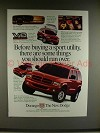 1998 Dodge Durango Ad - You Should Run Over