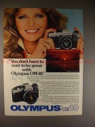1981 Olympus OM-10 Camera Ad with Cheryl Tiegs, NICE!!