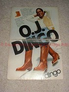1979 Dingo Boots Boot 2-page Ad w/ O.J. Simpson!!