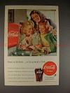 1948 Coke Coca-Cola Ad, Pause to Refresh at Club!!