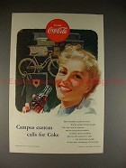 1953 Coke Coca-Cola Ad, Campus Custom Calls For Coke!!