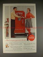 1955 Coke Coca-Cola Ad w/ Vending Machine - The Best!!
