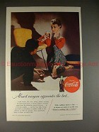 1955 Coke Coca-Cola Ad, Costume by Tina Leser, NICE!