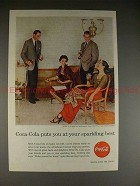 1956 Coke Coca-Cola Ad - Puts You at Sparkling Best!