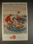 1959 Coke Coca-Cola Ad, Picnic - Be Really Refreshed!