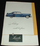 1947 Lincoln Blue Continenetal Coupe Ad NICE!