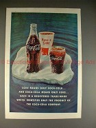 1961 Coke Coca-Cola Ad - Coke Means only Coca-Cola!!