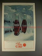 1964 Coke Coca-Cola Ad, Ice & Bottles - Refreshed!!