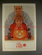 1964 Coke Coca-Cola Ad, Jack-o-Lantern - Using Pumpkin!