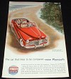 1949 Plymouth Red Convertible Car Ad, NICE!!!