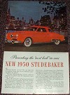 1950 Studebaker Champion Car Ad, NICE!!!