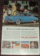 1952 Studebaker Land Cruiser Car Ad, NICE!!