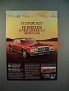 1979 Ford LTD Landau 4-door Sedan Ad - New Road Car