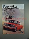 1981 Ford Courier Pickup Truck Ad - Check Out!
