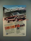 1981 Ford F-150 Pickup Truck Ad - The New Frontier