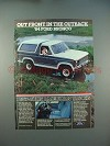 1984 Ford Bronco Ad - Out Front in the Outback